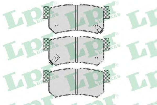 Комплект тормозных колодок 05P1210