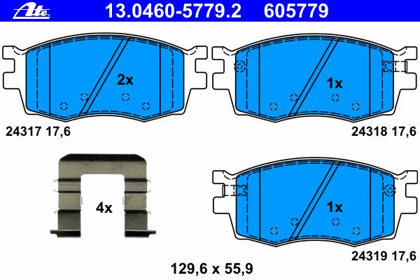 Колодки тормозные дисковые передн, HYUNDAI: ACCENT III 1.4 GL/1.5 CRDi GLS/1.6 GLS 05-10, ACCENT седан 1.4 GL/1.5 CRDi GLS/1.6 GLS 05-10, i20 1.1 CRDi/1.2/1.4/1.4 CRDi/1.6/1.6