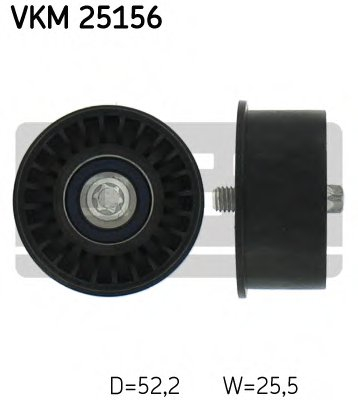 Ролик промежуточный ремня ГРМ с подшипником NSK Opel Astra/Vectra 1.4i-1.8i 95>
