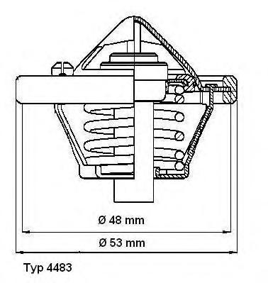 Термостат (с прокладкой) FORD: C-MAX 07-, FIESTA V 01-, FIESTA VI 08-, FOCUS 98-04, FOCUS C-MAX 03-07, FOCUS II 04-, FUSION 02-, MONDEO IV 07- \ MAZDA: 121