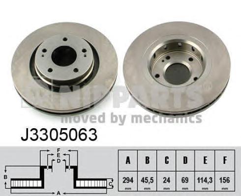 Диск тормозной NIPPARTS J3305063 mitsubishi outlander Пер