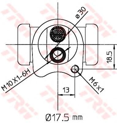 Цилиндр колесный DAEWOO MATIZ, CHEVROLET SPARK BWC251