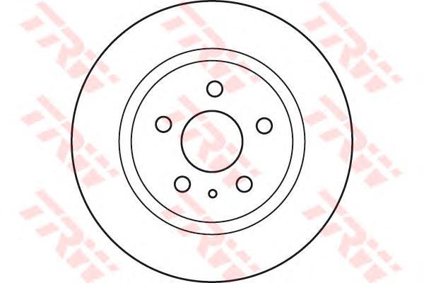 """Диск тормозной задний OPEL INSIGNIA, SAAB 9-5 10- (17-18"""") DF6112"""
