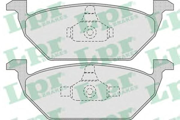 Комплект тормозных колодок 05P730