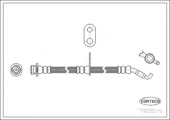 Шланг тормозной FIAT: SEDICI 1.6 16V 4x4/1.9 D Multijet 4x4 06- \ SUZUKI: SX4 1.5/1.6 VVT/1.6 VVT 4x