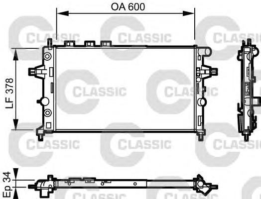Радиатор системы охлаждения OPEL: ASTRA G Наклонная задняя часть (F48, F08) 2.0 16V/2.0 DI/2.0 OPC/2.2 16V 98 - 05 , ASTRA G кабрио 2.0 OPC/2.2 16V 01 - 05 , ASTRA G купе (F