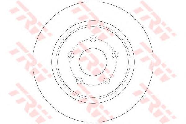 Диск тормозной TRW DF6150 FORD C-MAX 10- задн 280*11