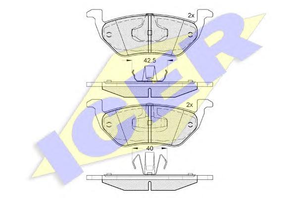 Колодки тормозные ICER 182031 Maverik 04- 07 задн