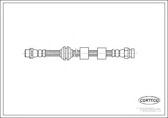 Тормозной шланг передний 455mm