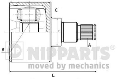 ШРУС NIPPARTS N2830504 SOLARIS внутр R 49535-1R001