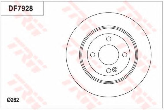 Диск тормозной задний HYUNDAI i30 12-, SOLARIS, KIA RIO III (262мм) DF7928