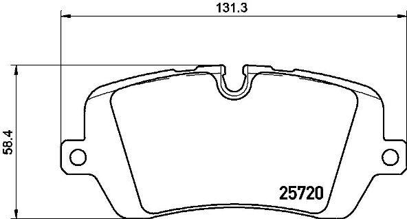 Колодки тормозные P44021
