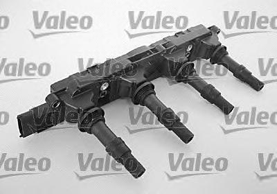 Катушка зажигания VALEO 245108 OPEL X18XE1/Z18XE/Z18XEL (в сборе) +4шт свечных наконечника