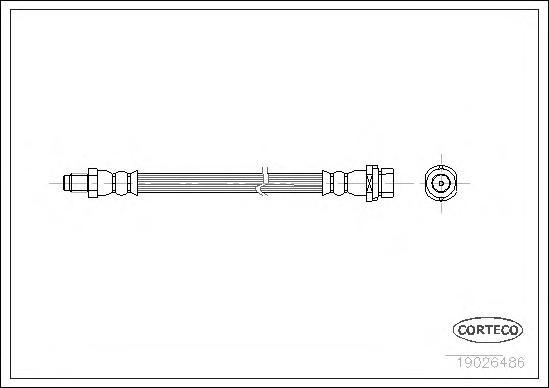 Шланг тормозной Re FO Focus -04 160мм