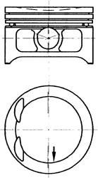 Поршень ДВС Opel Sintra/Frontera 2.2 16V X22XE =86 1.5x1.5x3 0.50 94