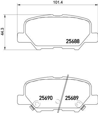 Комплект дисковых тормозных колодок PEUGEOT 4008 05/13-