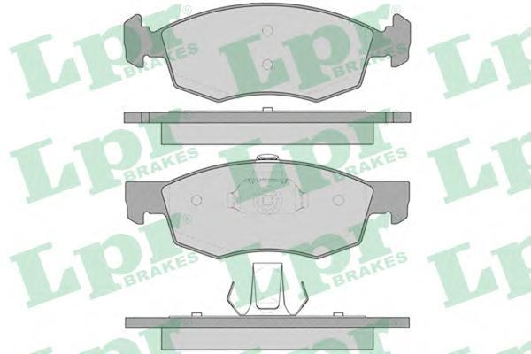 Колодки тормозные LPR 05P756 DOBLO 03-05 пер система ATE