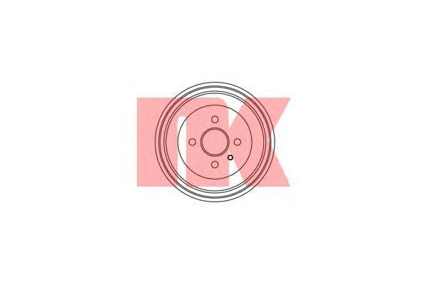 Барабан тормозной / OPEL Astra F/G/H, Corsa C, Vectra-B,Zafira под 4 болта (230X48.5) 95~