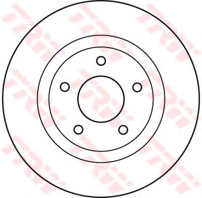 Диск тормозной передний CHRYSLER SEBRING, DODGE CALIBER, JEEP COMPASS DF4932