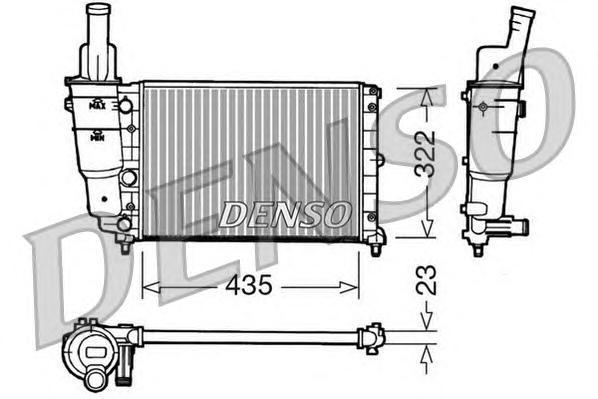 Радиатор системы охлаждения FIAT: PUNTO (176) 55 1.1 93 - 99 , PUNTO Van (176L) 1.1 96 - 00 \ LANCIA: Y (840A) 1.1 (840AE) 95 - 03