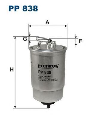 Фильтр топливный PP838