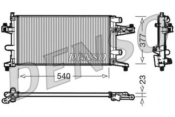 Радиатор охл. ДВС OP Corsa C 1.0/1.2, Tigra, Combo