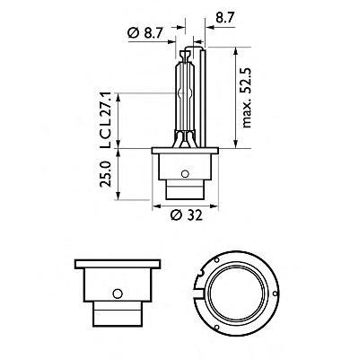 Лампа D2S (35W) P32d-2 Xenon Vision 4600K 85122VIC1 36477433