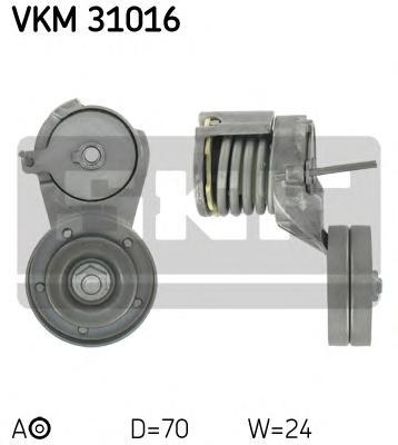 Натяжитель приводного ремня генератора, с кондиционером Skoda 1.6 96> VW Golf IV 1.4 16V-1.6 16V 97> A/C