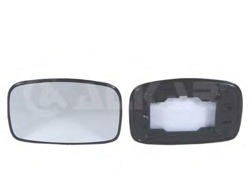 Стекло зеркала лев выпукл FORD: ESCORT (MK6)(1995-99), FIESTA (1994-02) / MAZDA: 121 (1996-99)