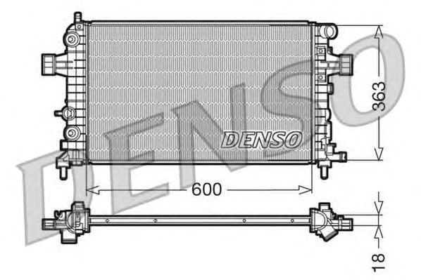 Радиатор двигателя