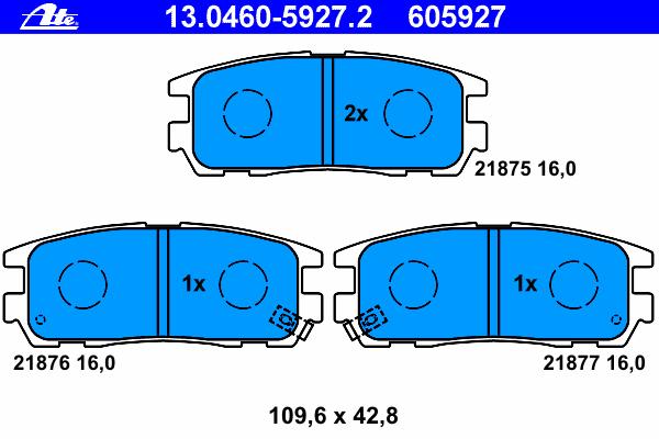Колодки тормозные дисковые задн, ISUZU: TROOPER 3.0 DTI/3.5 V6 24V 00-