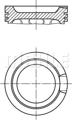 Поршень ДВС AUDI: A3 1.8 T/1.8 T quattro 96-03, A4 1.8 94-01, A4 1.8 T/1.8 T quattro 00-04, A4 1.8 T/1.8 T quattro 04-08, A4 Avant 1.8 T/1.8 T