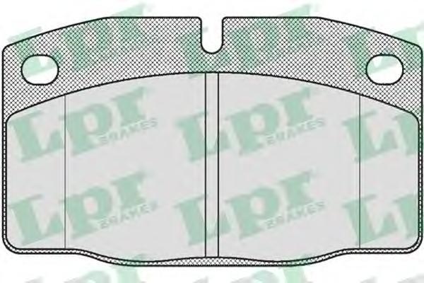 Комплект тормозных колодок 05P190