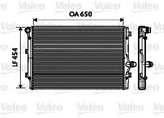 Радиатор двигателя premium audi: a3 (2003- 2008) 2.0tdi, 2.0tfsi, 3.2i,a3 (2008-