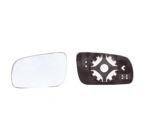 Стекло зеркала лев асферич, тониров, с подогр, больш VW: GOLF IV(1997-03), PASSAT (B5)(1996-03), LUPO (1998-01) / SEAT: TOLEDO II, LEON I (1998-03)IBIZA III, CO