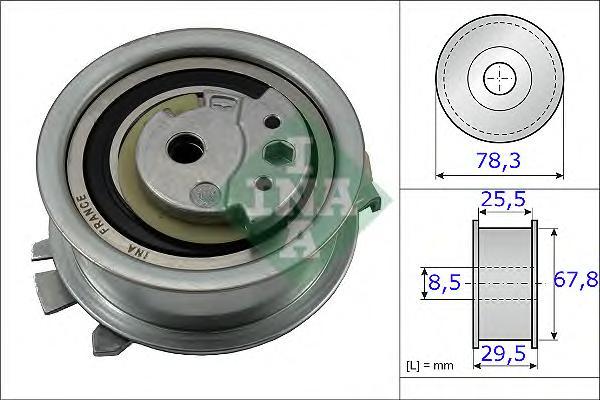Ролик натяжителя INA 531082510 VW Touran/Tiguan/T5 2.0TDi 09-