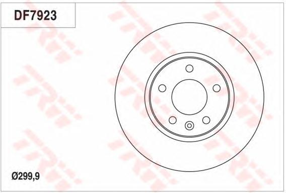 Диск тормозной передний OPEL ASTRA J 300мм DF7923