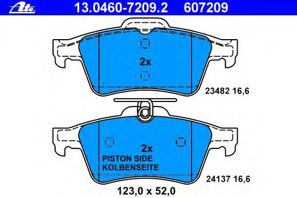 Колодки тормозные дисковые задн, JAGUAR: S-TYPE 4.2 V8/R 4,2 V8 99-08, XF 2.0/2.2 D/2.7 D/3.0/3.0 AWD/3.0 D/3.0 D AWD/4.2/4.2 Kompressor/5.0/5.0 Kompressor 08-, XF SPORTBRAKE