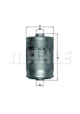 Фильтр топливный [очистка - 6 микрон] AUDI 80/A4/A6/A8/Coupe/V8 2,0-4,2 9/91->