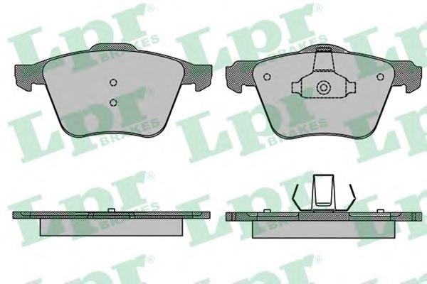 Колодки тормозные LPR 05P1507 VOLVO XC70