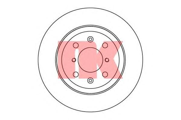Диск тормозной передний / OPEL Agila (17x252) 03~