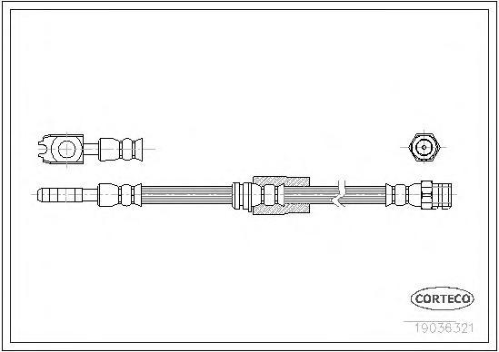 Шланг тормозной VW: PASSAT 1.4 TSI/1.6/1.6 FSI/1.8 TSI/1.9 TDI/2.0 FSI/2.0 FSI 4motion/2.0 TDI/2.0 TDI 16V/2.0 TDI 16V 4motion/2.0 TDI 4motion/3.2 FSI