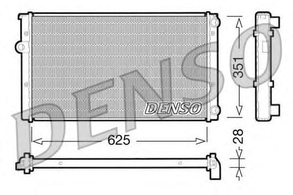 Радиатор охлаждения VOLKSWAGEN GOLF III VENTO 1.6/ 1.8/ 2.0/ 1.9TDI