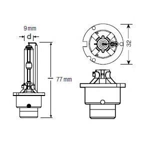 Лампа г/с D2S (35W) P32d-2 Xenarc Classic 66240CLC 4052899075443
