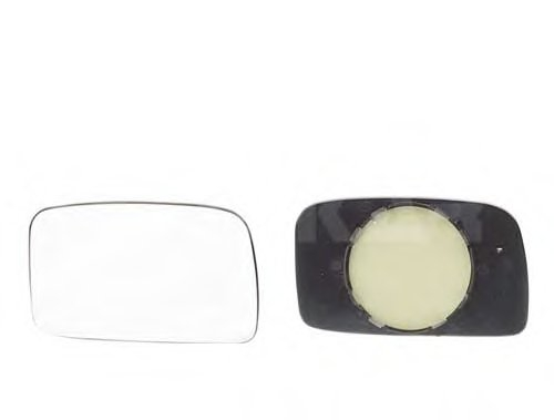 Стекло зеркала прав, мех, выпукл VW: GOLF II - 83-91 , JETTA II - 84-91