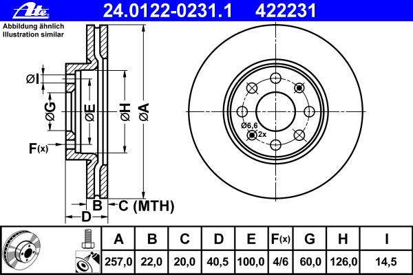 Диск тормозной передн, FIAT: PUNTO 1.2 Bifuel 99-
