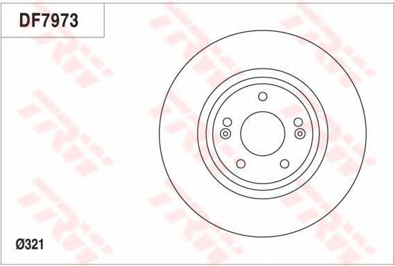 Диск тормозной передний HYUNDAI SANTA FE II-III, KIA SORENTO II DF7973
