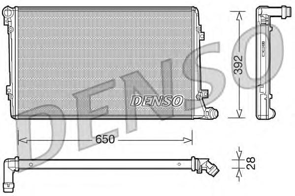 Радиатор охлаждения двигателя DRM32019