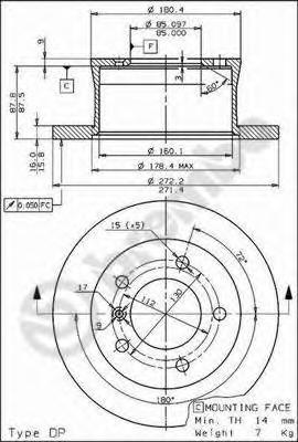 Диск тормозной MERCEDES W463 79-/SPRINTER 95-06/VW LT 96-06 задний