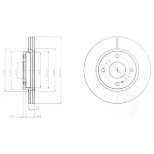 Диск тормозной передний FORD FIESTA VI (258мм) BG4170